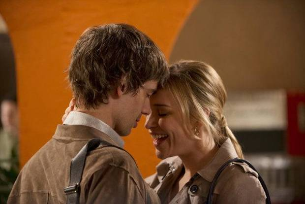 "Christopher Gorham as Auggie Anderson and Piper Perabo as Annie Walker in ""Covert Affairs."" - Photo by Christos Kalohoridis/USA Network)"