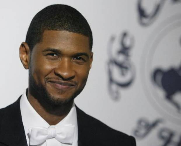 R&B singer Usher during a charity event in Beverly Hills, California (AP Photo by Matt Sayles)
