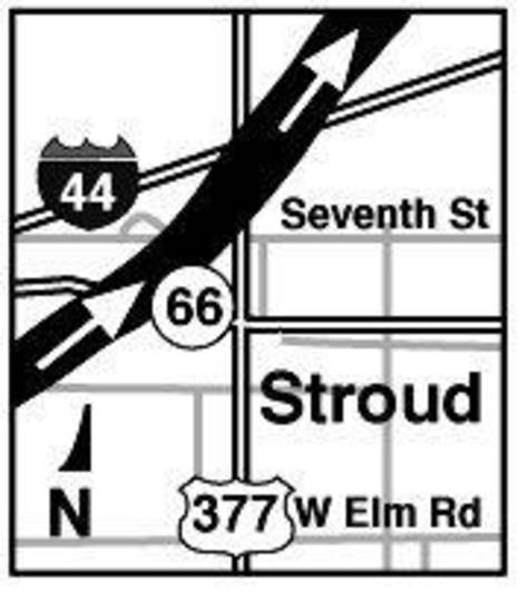 MAY 3, 1999 TORNADO: Tornado's Path: Stroud map