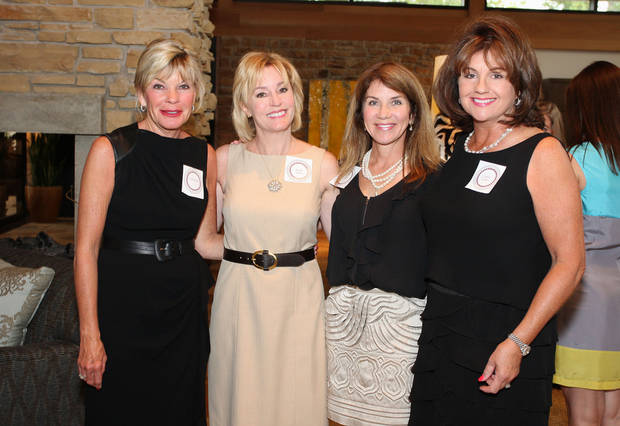 Cindy Reilley, Kris Taylor, Sue Ann Hamm and Elaine Jackson attend he Fashion for a Passion evening to benefit Hearts for Hearing.