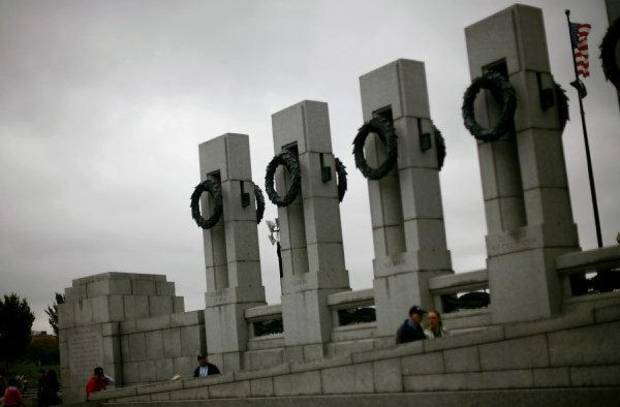 The National WWII Memorial in Washington D.C. on Wednesday, Oct. 12, 2011. Veterans from Oklahoma visited the National WWII Memorial and other points of interest during an Oklahoma Honor Flight to Virginia and Washington D.C. on Wednesday. Photo by John Clanton, The Oklahoman ORG XMIT: KOD
