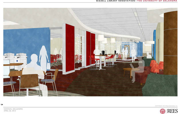 Proposed changes to the University of Oklahoma's Bizzell Memorial Library were shared Thursday. IMAGE PROVIDED BY UNIVERSITY OF OKLAHOMAN <strong>PROVIDED</strong>