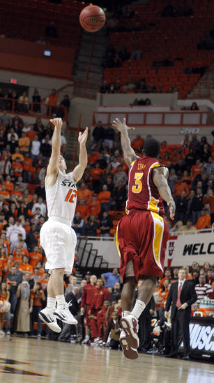 during the college basketball game between the Oklahoma State University and Iowa State University, Wednesday, Jan. 9, 2010, at Gallagher-Iba Arena in Stillwater, Okla. Photo by Sarah Phipps, The Oklahoman