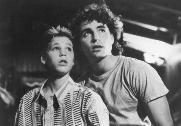 "Corey Haim, left, and Jason Patric in the 1987 film ""The Lost Boys."" (AP photo)"