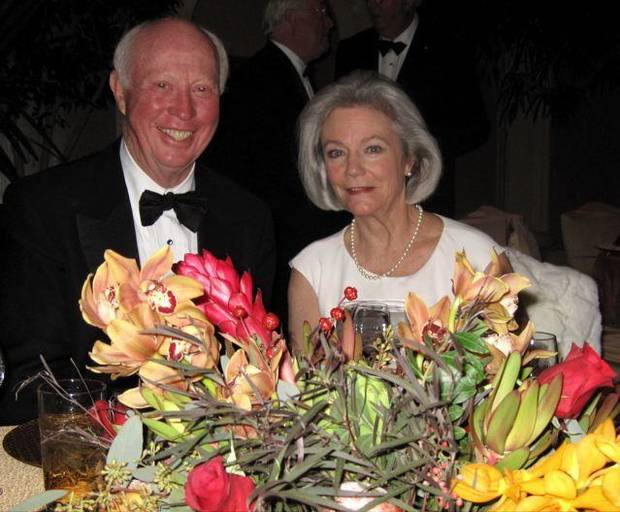 ROYAL TREATMENT...Henry Browne and Rindy Robertson were at the party.  ( Photo by Helen Ford Wallace).