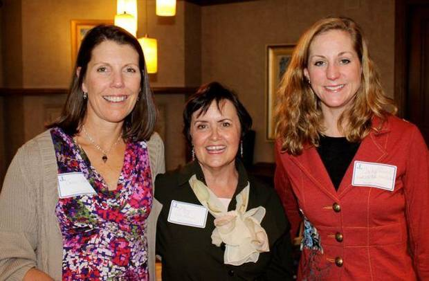 Julie Hall, Mary Robideaux, Cacky Poarch were at the Junior League   Sustainer's event in Hall's home. PHOTO PROVIDED