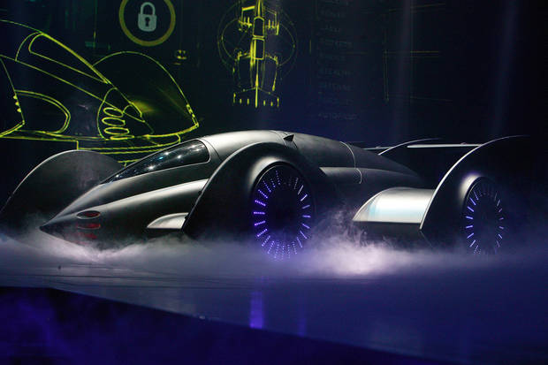 "The Batmobile in ""Batman Live."" Photo provided by Batman Live. <strong></strong>"
