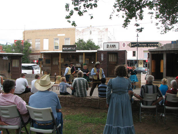 Old West re-enactors perform at the Wild West Days in Mangum. The annual event is one of 500 across the state supported by grant funding from Oklahoma Arts Council. Photo Provided