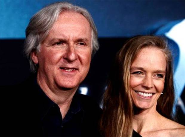 Suzy Amis Cameron with her husband James Cameron.