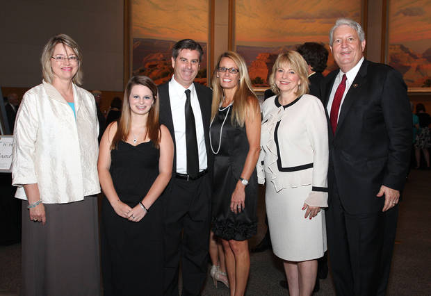 Joann Pearce, Karsten, Tom and Karen Gilbert and Susan and Mike Turpen were honor guests at the Festival of Hope benefit.