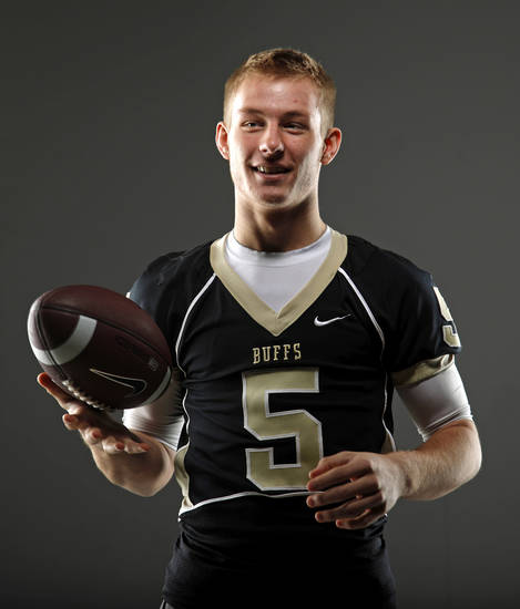 HIGH SCHOOL FOOTBALL: All-State football player Tony Kiefer, of McAlester, poses for a photo in Oklahoma CIty, Thursday, Dec. 15, 2011. Photo by Bryan Terry, The Oklahoman