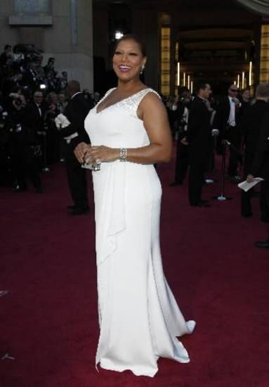 Queen Latifah arrives. (AP)