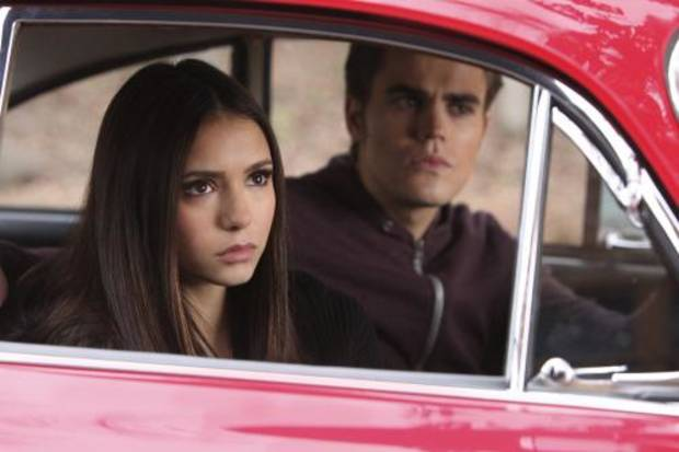 &quot;Crying Wolf &quot;--Nina Dobrev as Elena and Paul Wesley as Stefan on THE VAMPIRE DIARIES on The CW. Photo: Quantrell D. Colbert/The CW 2010 THE CW NETWORK. ALL RIGHT RESERVED.