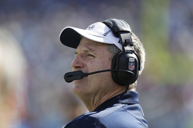 Tennessee Titans head coach Mike Munchak watches play against the Indianapolis Colts during the first half of an NFL football game Sunday, Oct. 28, 2012, in Nashville, Tenn. (AP Photo/Mark Humphrey)