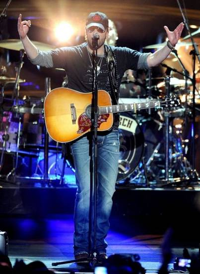 "Eric Church performs ""Drink In My Hand"" during the 2011 Academy of Country Music Awards in Las Vegas. Photo provided."