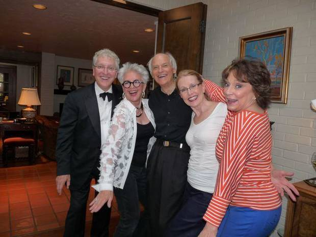 Robert Henry, Lolly Anderson, Bob Windsor, Jan Henry, Kerry Robertson were at the event in Henry home. (Photo provided).