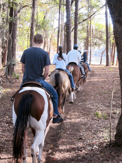 Horseback riding on Hilton Head Island. Photo Provided