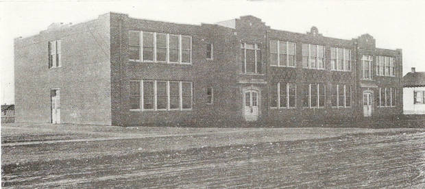 Moore's Old School, circa 1928, while it was  under construction. The Old School housed all 12 grades of Moore Public Schools from the late '20s until the 1950s. Photo provided <strong>PROVIDED - PROVIDED</strong>