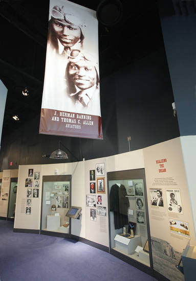 Entrance to the black history exhibit at the Oklahoma History Center. <strong>PAUL B. SOUTHERLAND - The Oklahoman</strong>