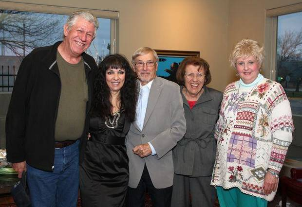 Larry Darnell, Jackie Short, John Ferguson, Lou Ann Rice, Kristina Rapp attended the first cast party for the Oklahoma Senior Follies. (Photo by David Faytinger.