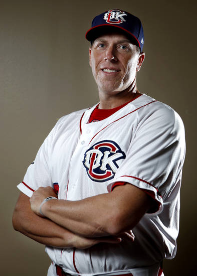 MINOR LEAGUE BASEBALL: Oklahoma City Redhawk's Mike Hessman poses for a photograph during media day for the Oklahoma City Redhawks in Oklahoma City, Tuesday, April 3, 2012. Photo by Sarah Phipps, The OklahomanMINOR LEAGUE BASEBALL:
