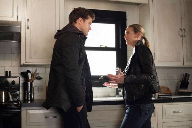 "Peter (Joshua Jackson) and Olivia (Anna Torv) are upset by the Observer's story in the ""This Boy Must Live"" episode of FRINGE airing at 8 p.m. Friday, Jan.11 on Fox. - Fox Photo"