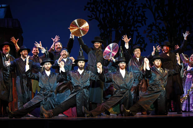 "The cast of ""Fiddler on the Roof"" perform the ""Bottle Dance.""   Photo by Carol Rosegg <strong>Photo by Carol Rosegg</strong>"