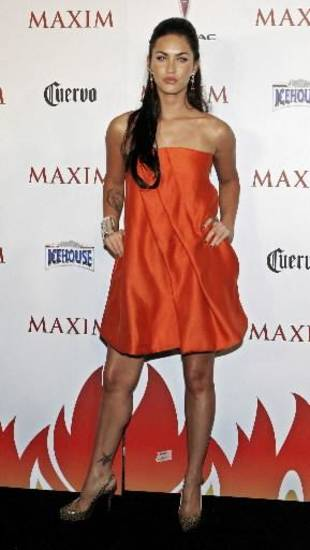 Actress  Megan  Fox attends the Maxim Hot 100 Party held at the Gansevoort Hotel in New York City on Wednesday, May 16, 2007. (AP Photo/Adam Rountree)