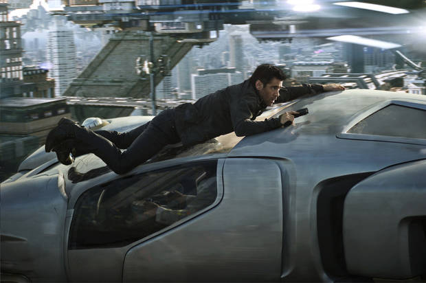 "Colin Farrell as Quaid in a scene from ""Total Recall."" COLUMBIA PICUTES PHOTO <strong></strong>"