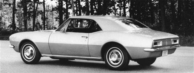 The Camaro which will be offered in the 1967 line of cars by Chevrolet is shown, Sept. 12, 1966 in Detroit. It is a four-passenger car with 108-inch wheelbase and sports car proportions. Horsepower available ranges from 140 to 295. (AP Photo)
