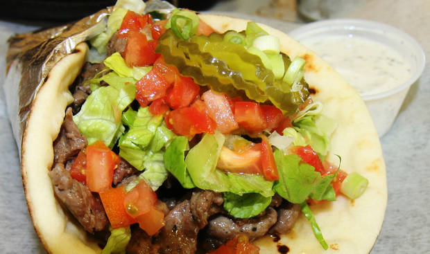Beef shewarma from Camilya's in Quail Springs Plaza
