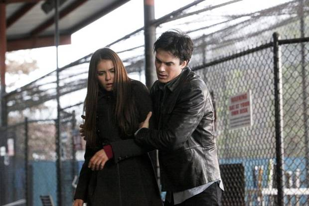 """Heart of Darkness"" - Pictured (L-R): Nina Dobrev as Elena and Ian Somerhalder as Damon in THE VAMPIRE DIARIES on The CW. Photo: Quantrell D. Colbert/The CW ©2012 The CW Network. All Rights Reserved."