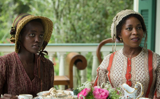 "Lupita Nyong'o and Alfre Woodard in ""12 Years a Slave."""