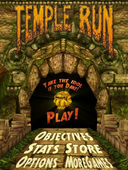"There isn't much depth to the game ""Temple Run"" from Imangi Studios which is what makes the mobile application game so appealing to all ages: You just tap on ""play,"" and you're off and running."