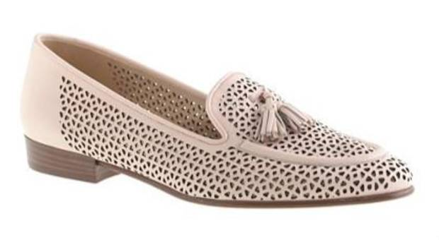 J. Crew Bella tassel loafer, available in soft pink or blue.
