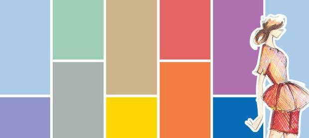 Pantone's Spring 2014 Fashion Color Report shows theses colors as predominant for Spring, as determined by designers. Photo provided <strong></strong>