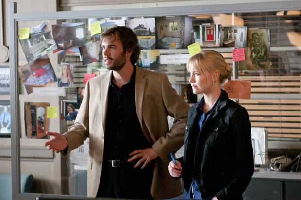 "Rossif Sutherland and Laura Harris in ""An Officer and a Murderer"" - Lifetime Photo"