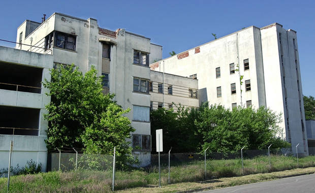The six-story former Mercy hospital stood boarded up and dilpaidated at NW 13 and Walker for a quarter century before it was cleared by the city to make way for a new housing development. &lt;strong&gt;PAUL B. SOUTHERLAND&lt;/strong&gt;