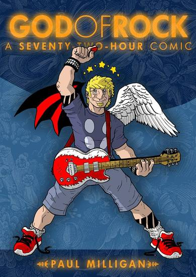 "The cover to the collection of the first three ""God of Rock"" comic books.  Courtesy Paul Milligan. <strong></strong>"
