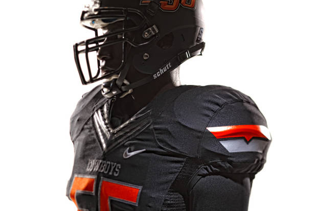 The all-black version of OSU's new uniforms. PHOTO PROVIDED