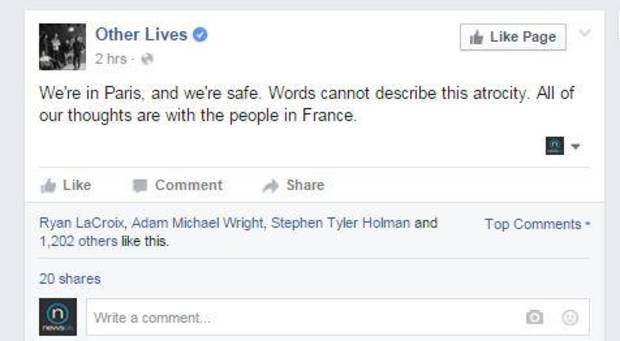 Screenshot via Other Lives' official Facebook page