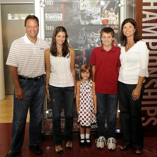 Joani Crean, sister of Jack and John Harbaugh, is the wife of Indiana basketball coach Tom Crean.