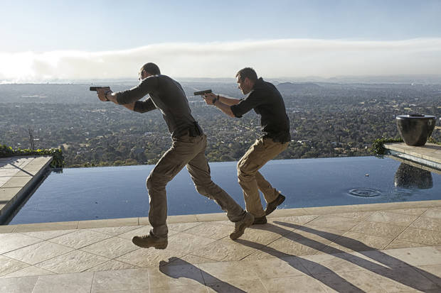 "From left, Philip Winchester and Sullivan Stapleton in Episode 19 of ""Strike Back"" - Cinemax Photo"