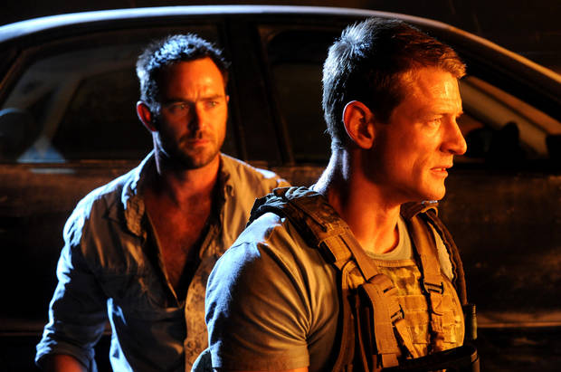 "From left, Sullivan Stapleton and Philip Winchester of ""Strike Back"" - HBO/Cinemax Photo"