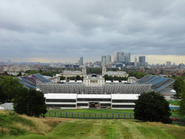 The Olympic equestrian stadium is seen in London before the 2012 Games. Todd Gralla, who works in the Norman branch of the architectural firm Populous, helped design the facility. Photo provided by Todd Gralla