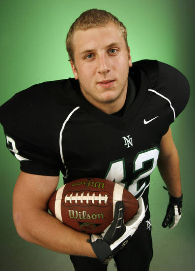 Beau Blankenship, Norman North, poses for a photo in the OPUBCO studio for The Oklahoman's All-State Football Team, in Oklahoma City, Wednesday, Dec. 12, 2007. By Nate Billings, The Oklahoman