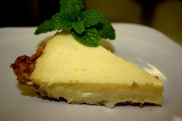 Macadamia Crusted Key Lime pie.