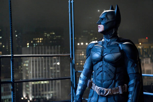 Above and top: Christian Bale as Batman in �The Dark Knight Rises.� PHOTOs PROVIDED BY WARNER BROS.