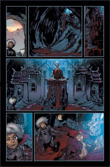 "A page from the new ""Harbinger."""