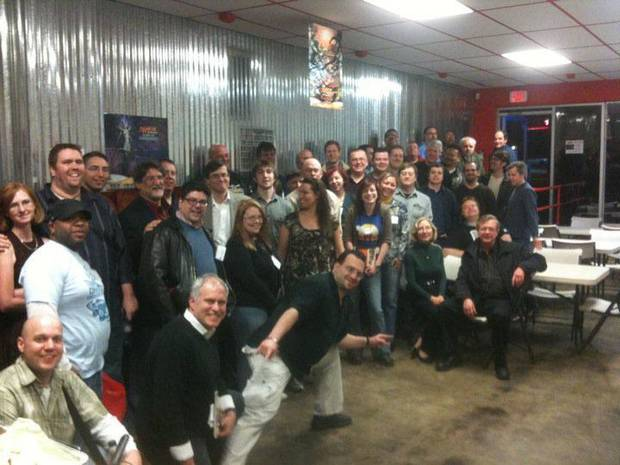 ComicsPRO retailers and sponsors at Lone Star Comics.